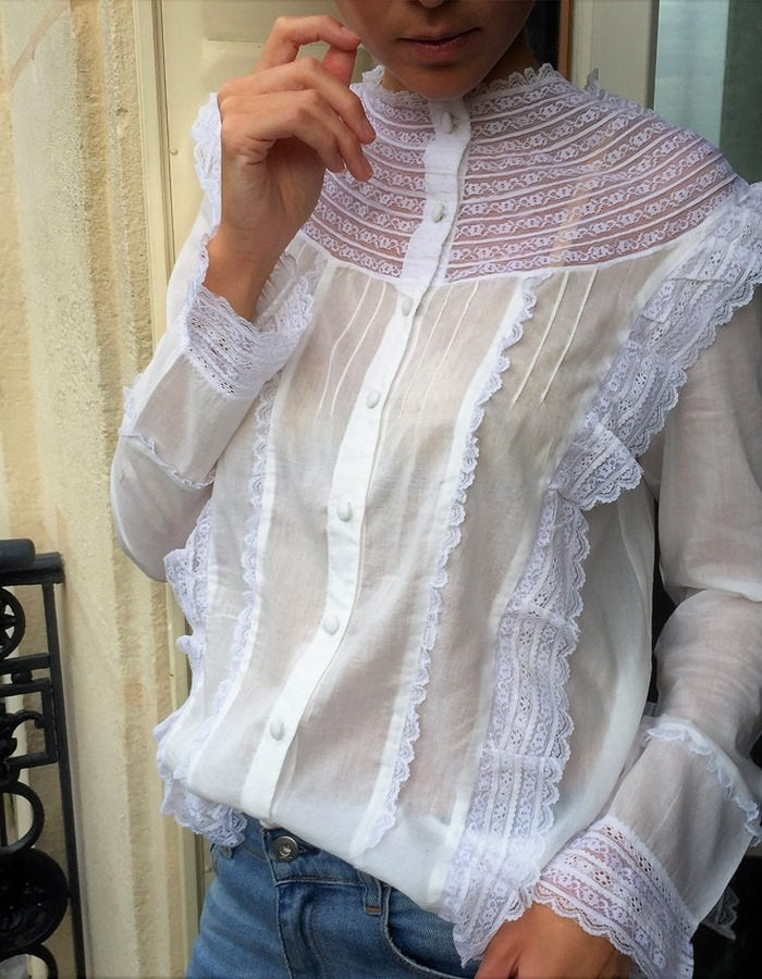 CONSTANCE white blouse