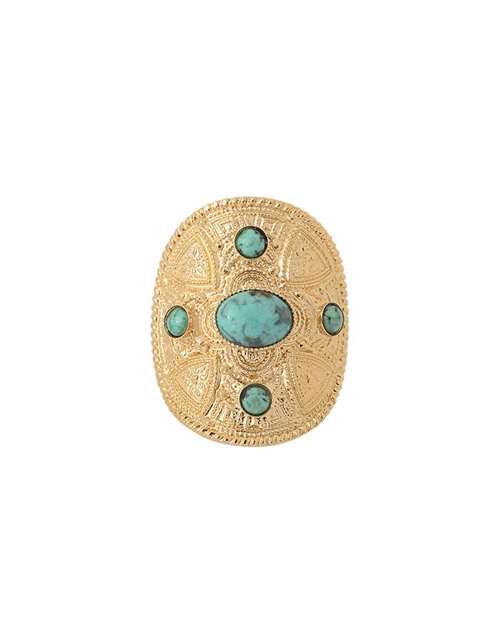 Bague cabochons turquoise CAPRI