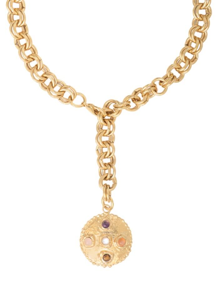 Collier médaillon multi-pierres CAPRI