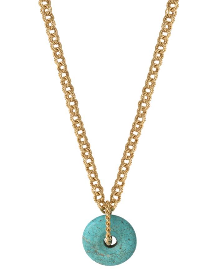 Sautoir torsadé turquoise AMALFI
