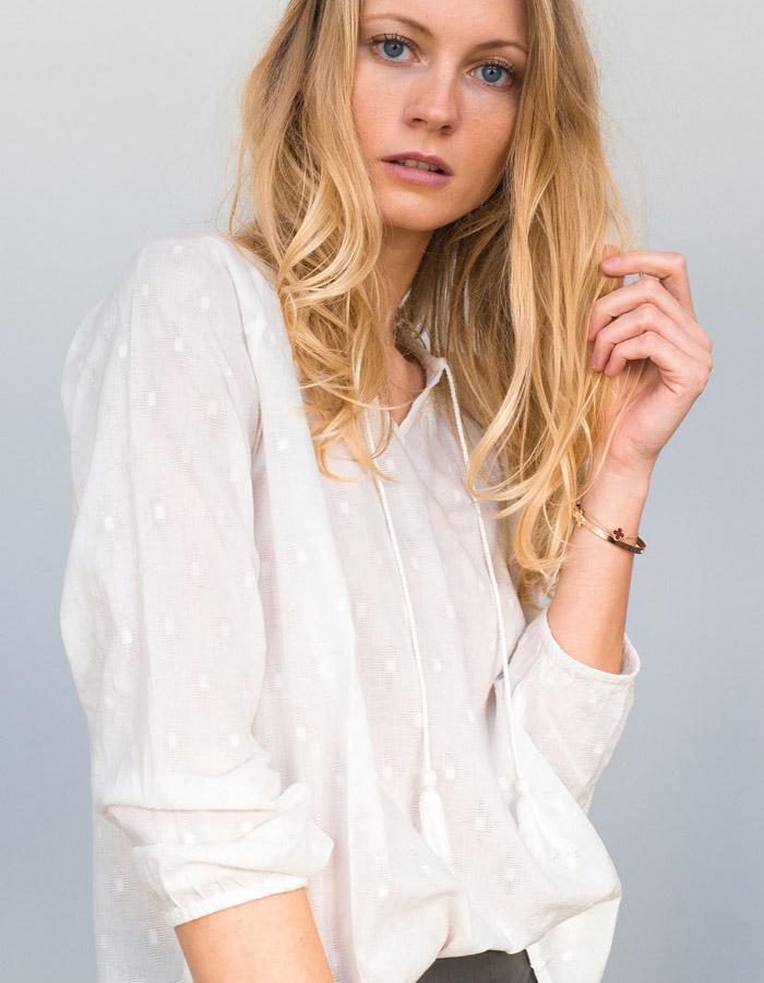 HYSOPE ecru blouse