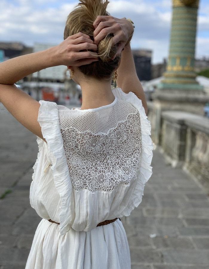 FANY white dress (size S)
