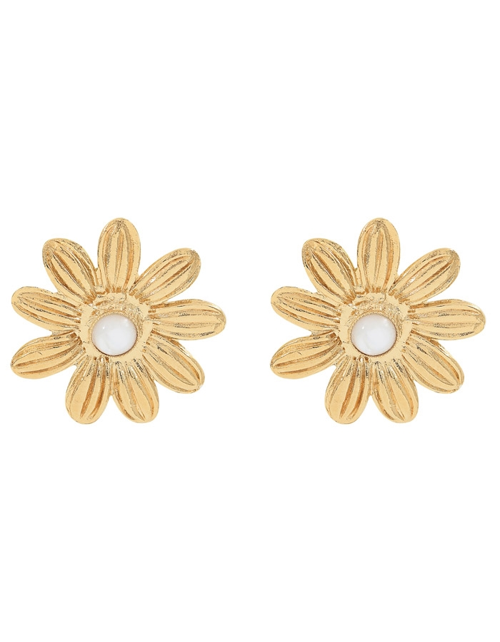 MARGUERITE white mother of pearl earrings