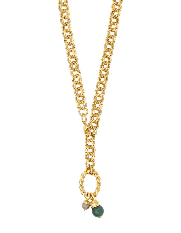 Sautoir anneaux et amulettes SOFIA