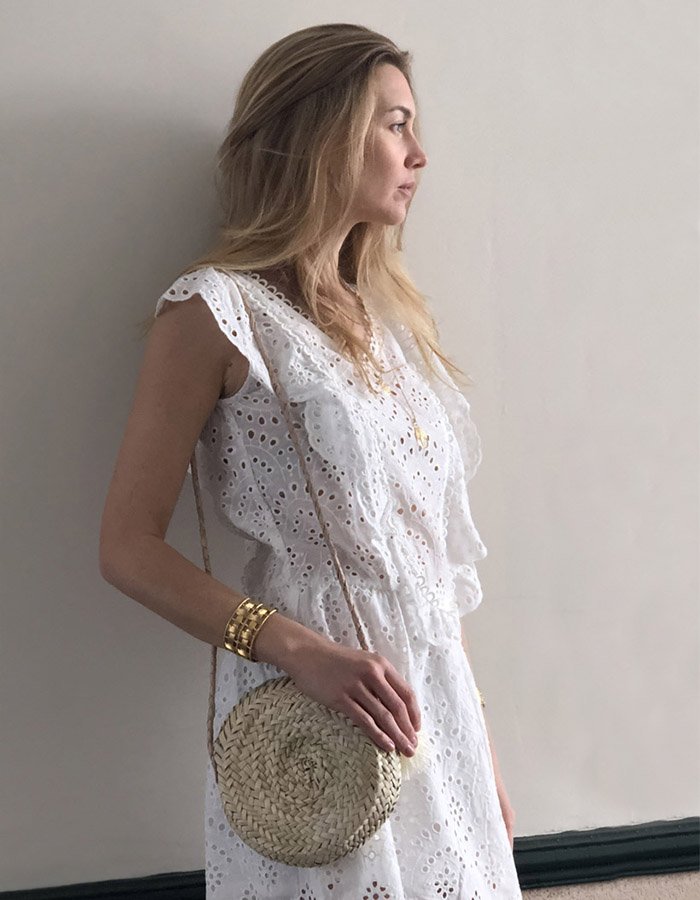 SYDNEY white dress (size S)