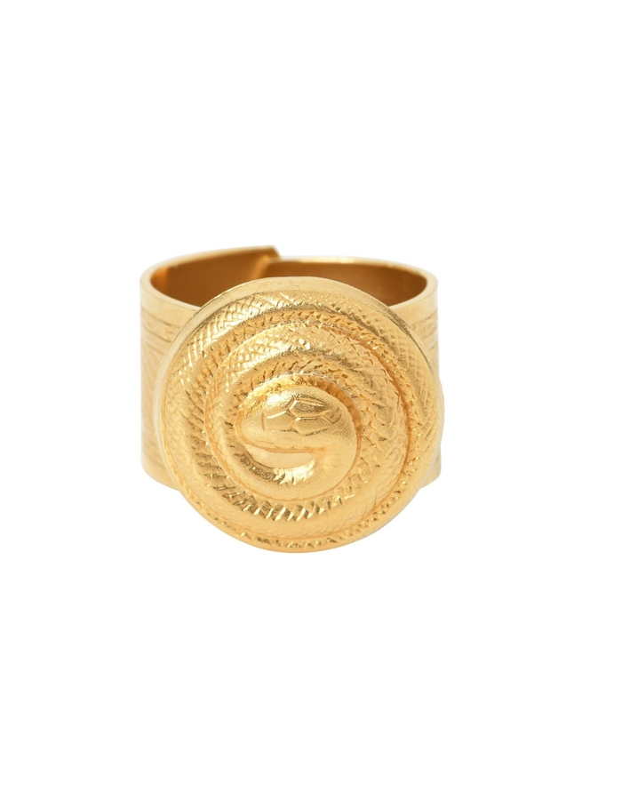 Bague bouton serpent torsadé ISIS