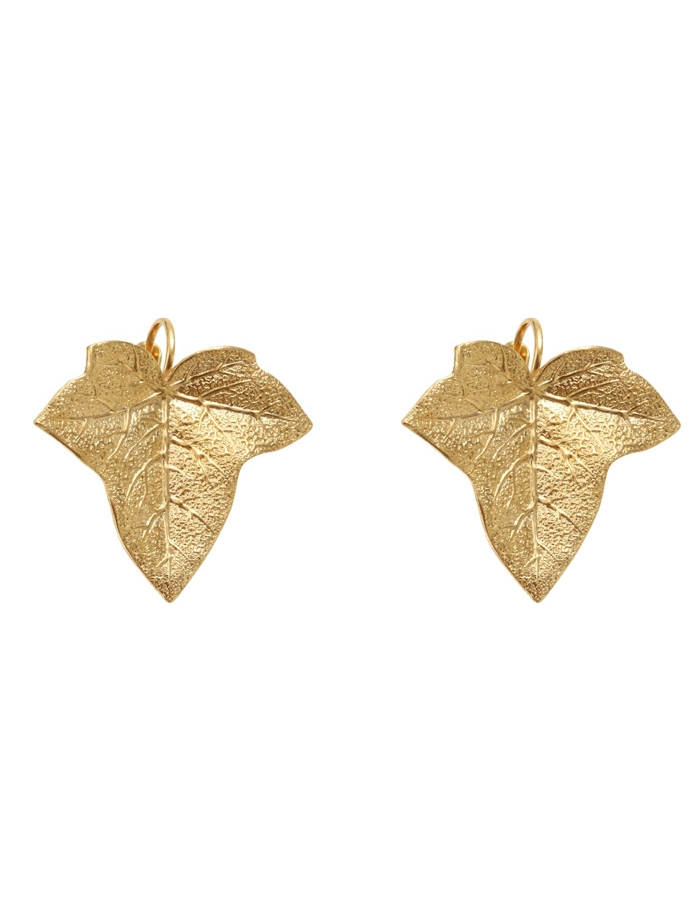 Boucles d'oreilles dormeuses feuilles MIRABEAU