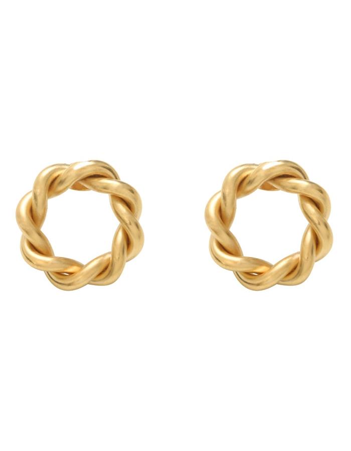 Boucles d'oreilles anneaux torsadés TUILERIES