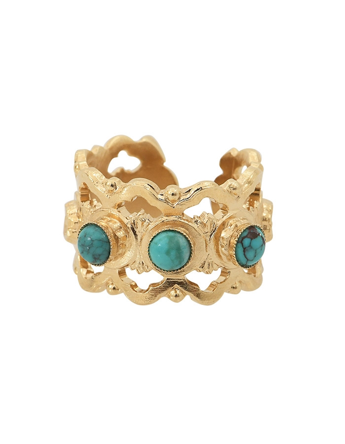 NARCISSE turquoise ring